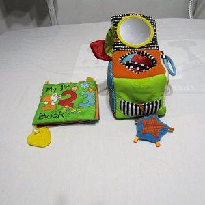 Infantno toys Bundle baby development cube n book
